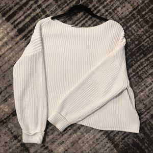 White/off white Millie Mozart boat neck sweater